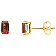 Buy A B Davis 9ct Gold Garnet Stud Earrings, Red Online at johnlewis.com