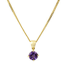 Buy A B Davis 9ct Yellow Gold Pendant, Amethyst Online at johnlewis.com