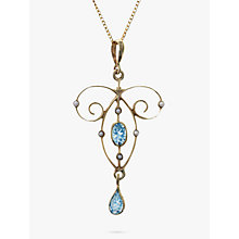 Buy Nina Breddal Topaz and Seed Pearl Pendant Necklace, Gold Online at johnlewis.com