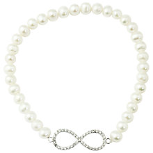 Buy A B Davis Pearl Eternity Bracelet, White Online at johnlewis.com