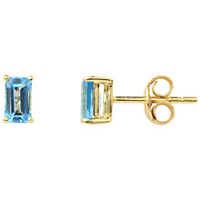 Buy A B Davis 9ct Gold Topaz Earrings, Blue Online at johnlewis.com