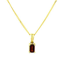Buy A B Davis 9ct Gold Garnet Pendant Necklace, Red Online at johnlewis.com