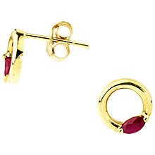 Buy A B Davis 9ct Gold Ruby Ring Earrings, Red Online at johnlewis.com