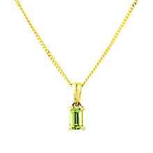 Buy A B Davis 9ct Gold Peridot Pendant Necklace, Green Online at johnlewis.com