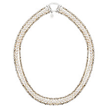 Buy Claudia Bradby Pyrite and Pearl Necklace, White/Silver Online at johnlewis.com