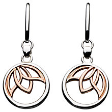 Buy Kit Heath Lotus Rose Gold Plated Sterling Silver Earrings, Rose Gold/Silver Online at johnlewis.com