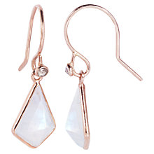 Buy Auren Rose Gold Vermeil Moonstone Diamond Kite Earrings, Rose Gold Online at johnlewis.com