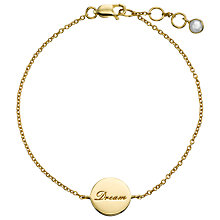 Buy John Lewis Gemstones 18ct Gold Plated Rainbow Moonstone Dream Bracelet, Gold Online at johnlewis.com