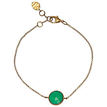 Buy John Lewis Gemstones 18ct Gold Plated Green Onyx Circle Bracelet, Gold Online at johnlewis.com
