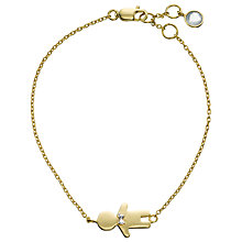 Buy John Lewis Gemstones 18ct Gold Plated Aqua Chalcedony Little Boy Bracelet, Gold Online at johnlewis.com