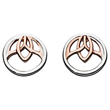 Buy Kit Heath Lotus Sterling Silver Rose Gold Plated Stud Earrings, Rose Gold/Silver Online at johnlewis.com