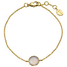 Buy John Lewis Gemstones 18ct Gold Plated Rose Chalcedony Circle Bracelet, Gold Online at johnlewis.com