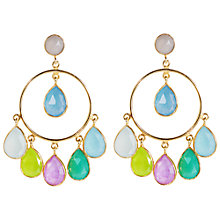 Buy Auren 22ct Gold Vermeil Chalcedony Festival Hoop Earrings, Gold Online at johnlewis.com