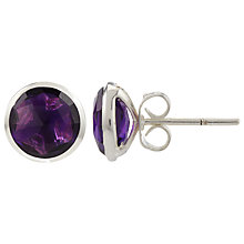 Buy John Lewis Gemstones Silver Plated Circle Stud Earrings Online at johnlewis.com