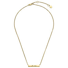 Buy John Lewis Gemstones 18ct Gold Plated Je T'aime Necklace, Gold Online at johnlewis.com