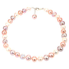 Buy Lido Pearls Large Freshwater Pearl Necklace, Multi Online at johnlewis.com