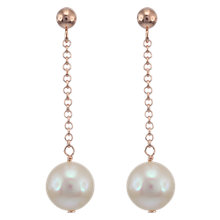 Buy Lido Freshwater Pearl Drop Earrings, Rose Gold Online at johnlewis.com