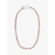 Buy Claudia Bradby Rice Pearl Necklace, Pink Online at johnlewis.com