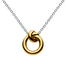 Buy Kit Heath 18ct Gold Plating Sterling Silver Knot Necklace, Gold Online at johnlewis.com