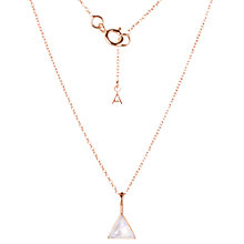 Buy Auren Rose Gold Vermeil Moonstone Triangle Pendant Necklace, Rose Gold Online at johnlewis.com