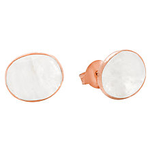 Buy Auren Rose Gold Vermeil Moonstone Stud Earrings, Rose Gold Online at johnlewis.com