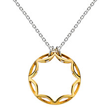 Buy Kit Heath Sterling Silver Gold Plated Small Ring Necklace, Gold Online at johnlewis.com