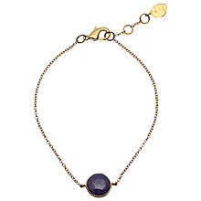Buy John Lewis Gemstones 18ct Gold Plated Lapis Lazuli Circle Bracelet, Gold Online at johnlewis.com