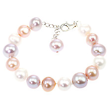 Buy Lido Pearls Large Freshwater Pearl Braclet, Multi Online at johnlewis.com