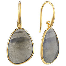 Buy John Lewis Gemstones Gold Plated Labrodite Teardrop Earrings, Grey Online at johnlewis.com