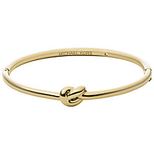 Buy Michael Kors Large Knot Bangle, Gold Online at johnlewis.com