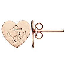 Buy Alex Monroe Heart Stud Earrings, Rose Gold Online at johnlewis.com