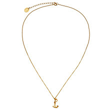 Buy Alex Monroe Gold Plated Ships Anchor Pendant Necklace, Gold Online at johnlewis.com