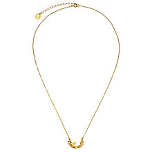 Buy Alex Monroe Gold Plated Swooping Swallow Pendant Necklace, Gold Online at johnlewis.com