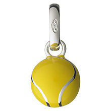 Buy Links of London Enamel Tennis Ball Charm, Silver/Yellow Online at johnlewis.com