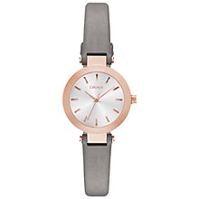 Buy DKNY NY2287 Women's Stanhope Leather Strap Watch, Silver Online at johnlewis.com