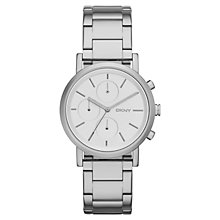 Buy DKNY NY2273 Women's Soho Bracelet Watch, Silver/White Online at johnlewis.com