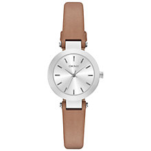 Buy DKNY NY2297 Women's Stanhope Leather Strap Watch, Brown/Silver Online at johnlewis.com