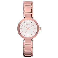 Buy DKNY NY8831 Women's Stanhope Bracelet Watch, Rose Gold Online at johnlewis.com
