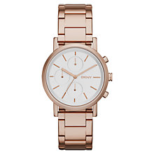 Buy DKNY NY2275 Women's Soho Bracelet Watch, Rose Gold/White Silver Online at johnlewis.com