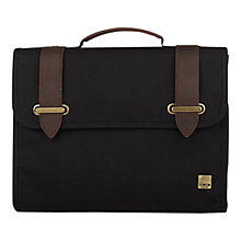"Buy Knomo Padstow Slim Canvas Satchel Briefcase for Laptops up to 13"" Online at johnlewis.com"
