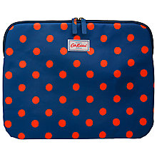 "Buy Cath Kidston Button Spot Sleeve for 13"" Laptop, Navy Online at johnlewis.com"