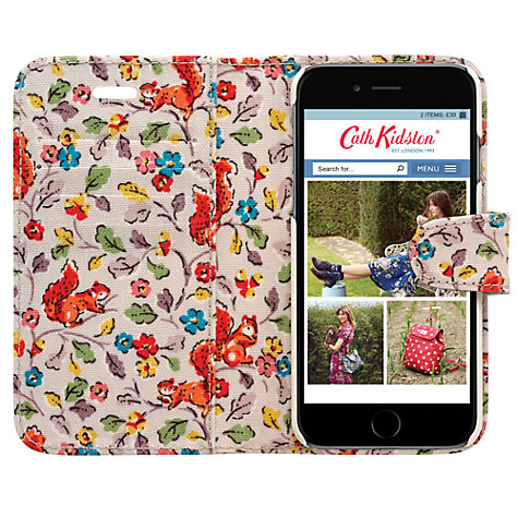 buy cath kidston folio case for iphone 6 john lewis. Black Bedroom Furniture Sets. Home Design Ideas