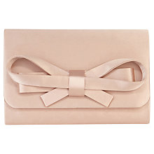 Buy Coast Sera Bow Clutch Bag, Blush Online at johnlewis.com