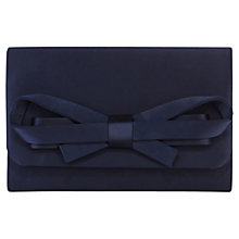 Buy Coast Sera Bow Clutch Bag, Navy Online at johnlewis.com
