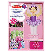 Buy Melissa & Doug Nina Ballerina Magnetic Dress-Up Set Online at johnlewis.com