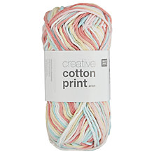Buy Rico Creative Cotton Print Aran Yarn, 50g Online at johnlewis.com