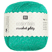 Buy Rico Essentials Crochet Glitz, 50g Online at johnlewis.com