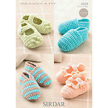 Buy Sirdar Snuggly 4 Ply Crochet Pattern, 4509 Online at johnlewis.com