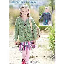 Buy Sirdar Supersoft Aran Knitting Pattern, 2434 Online at johnlewis.com
