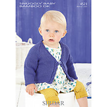 Buy Sirdar Snug Baby Bamboo DK Knitting Pattern, 4523 Online at johnlewis.com